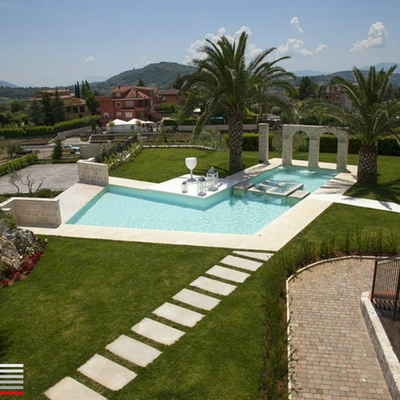 Progetto architettonico di una piscina ornamentale