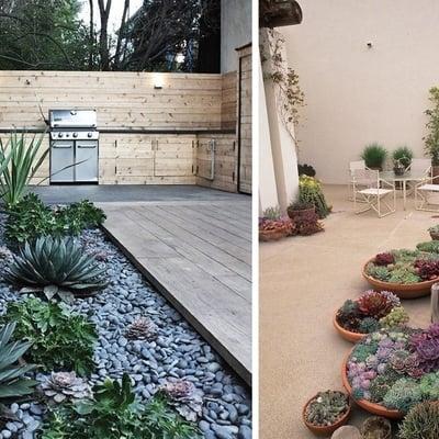 Giardini moderni piccoli design casa creativa e mobili - Idee giardino senza erba ...