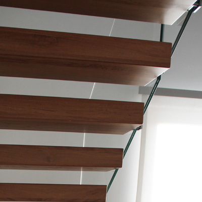 Progetto scala interna a gradini sospesi a Tarcento (UD)