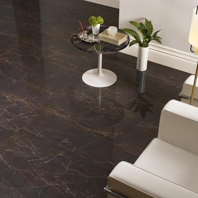 Gres porcellanato effetto marmo melange marrone