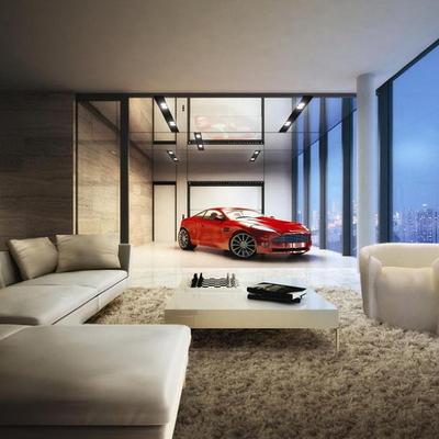Idee per parcheggiare la tua auto: case con garage nel salone
