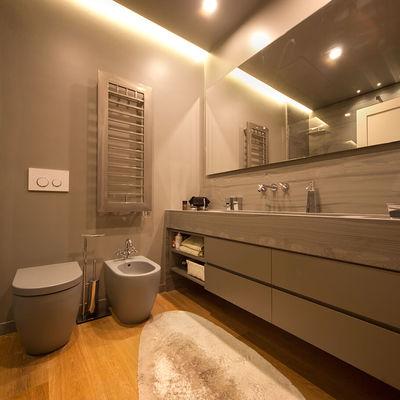 Idee e foto di bagni color sabbia per ispirarti habitissimo - Controsoffitto bagno ...