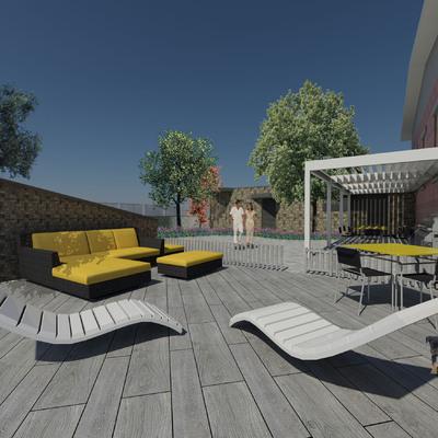 Progetto realizzazione di box doppio e giardino a Milano (MI)