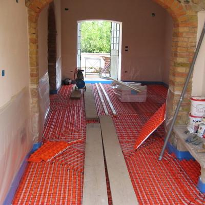 Progetto installazione suolo radiantte in casa di campagna