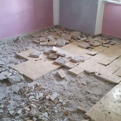demolizione e ricostruzione pavimento