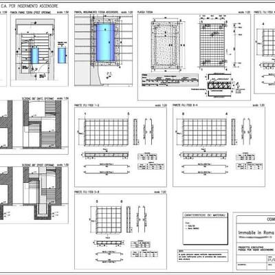 Progetto per Inserimento ascensore in fabbricato