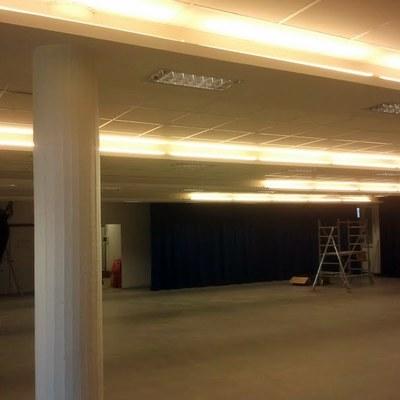 insonorizzazione e illuminazione aula magna