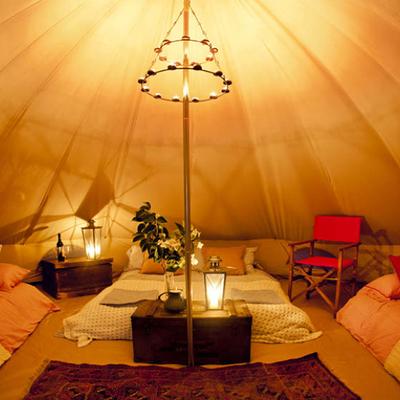 interni tenda glamping