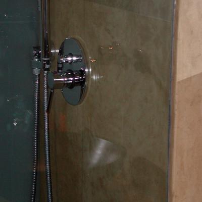 L' interno del vano doccia