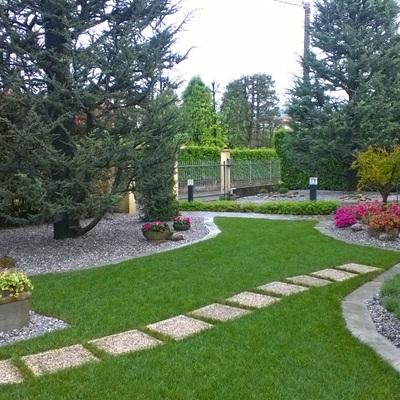 Progetti giardino per villette n progetto villetta with - Giardini di villette ...