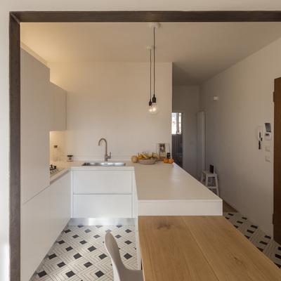 La cucina disegnata su misura