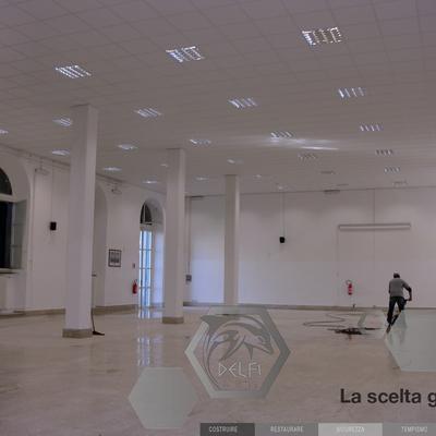 Ristrutturazione del Salone del Palazzo Allievi dell'Accademia Navale di Livorno