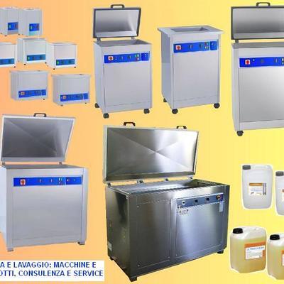 Lavatrici ad ultrasuoni e lavaggio ecologico in officina e industria meccanica