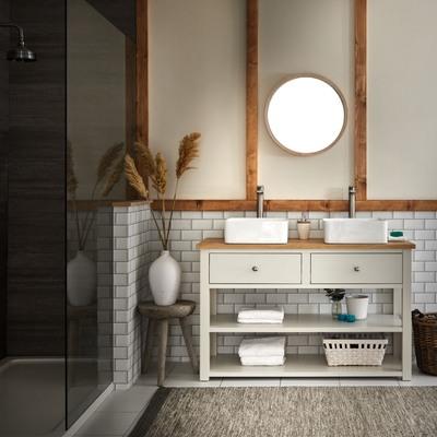 Ispirazioni in stile country chic per il bagno