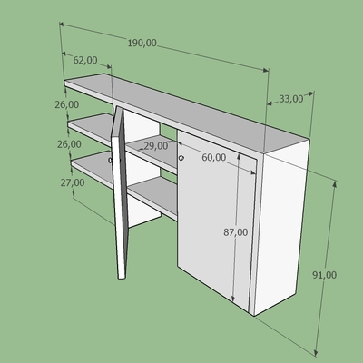 Progettazione di mobili su misura in cartongesso