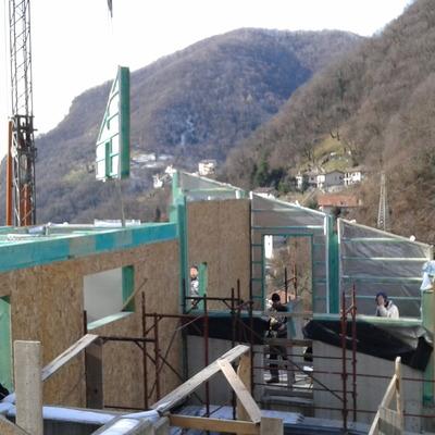 Progetto casa prefabbricata a Erve (LC)