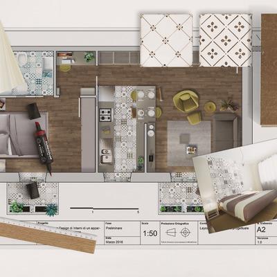 Piccolo appartamento tra classico e contemporaneo