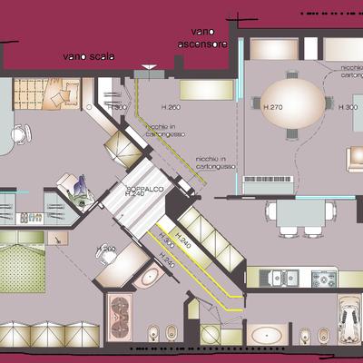 Progetto architettonico e direzione lavori Ristrutturazione appartamento in zona Cinecitttà Est a Roma