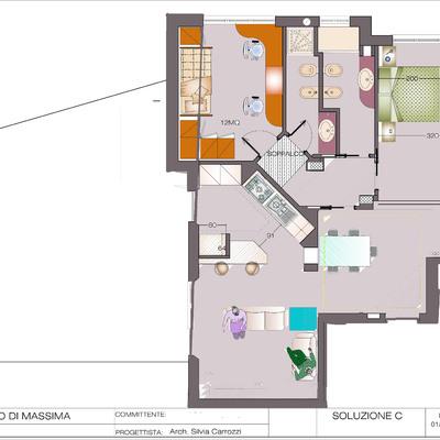 Progetto di Ristrutturazione appartamento Roma Monteverde