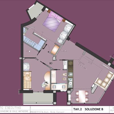 Progetto Ristrutturazione appartamento Via di Donna Olimpia Roma