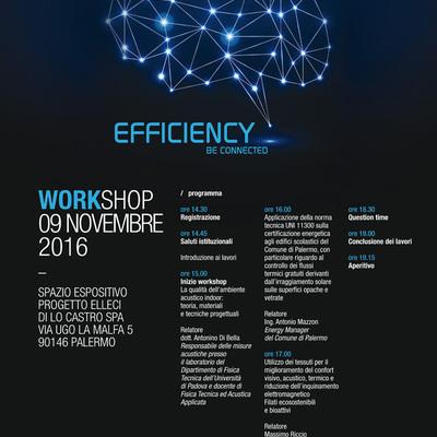"""Organizzazione del workshop """"Efficiency"""" del 09/11/2016"""
