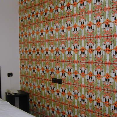 Progetto decorazione camera d'albergo