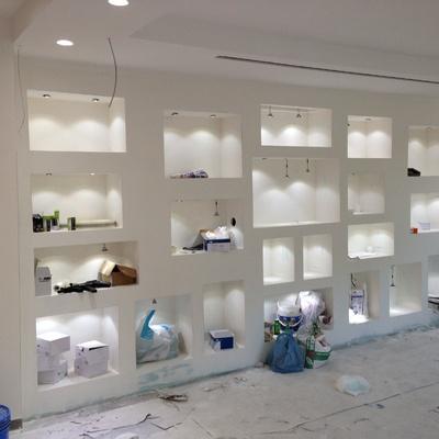 progetto Controsoffitti, pareti attrezzate, contropareti e luci soffuse