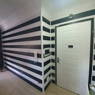 Creazione parete in parquet