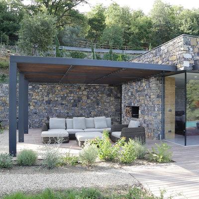idee e foto di terrazzo e giardino di stile rustico a milano per ... - Idee Patio Con Giardino