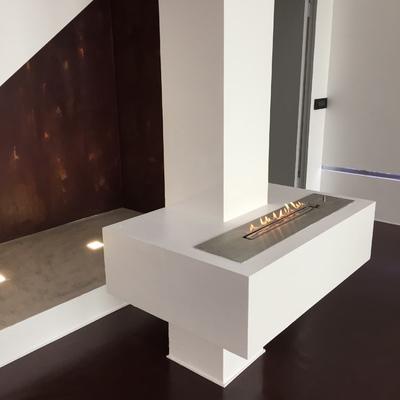 Pavimento e parete in Resina Materia by Elekta
