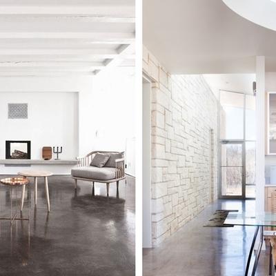 Pavimenti in cemento per abitazioni moderne