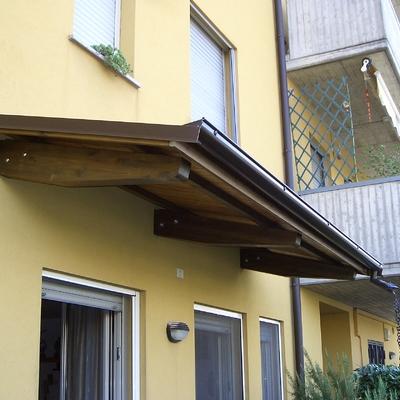 Progetto installazione Pensiline in legno o alluminio