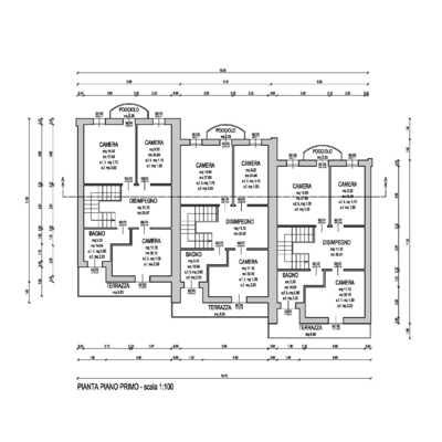 Progetto per la costruzione di una abitazione trifamiliare