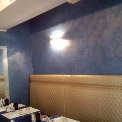 Progetto di stucco antico cerato grigio chiaro progetti imbianchini - Pittura decorativa pareti ...