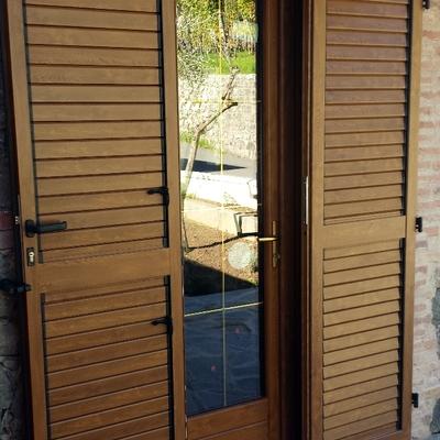 Porta finestra in PVC e persiana in alluminio