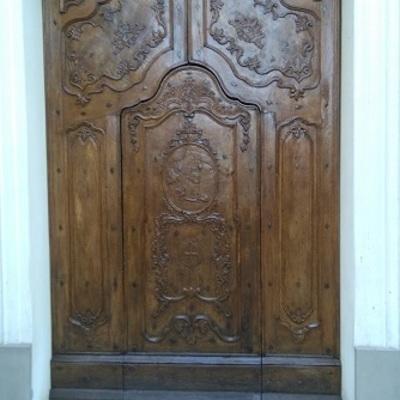 Restauro  del portone della Cofraternita S.Carlo di Tortona