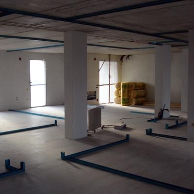 Progetto di Suddivisione dello spazio con pareti in cartongesso.
