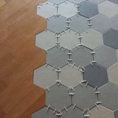 Nuovo accostamento parquet-ceramica