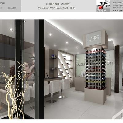 Progettazione per un locale commerciale-Luxury nail Saloon