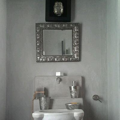Progetto Bagno completo con finitura in tadelakt originale di Marrakesh