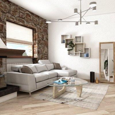 Progetto del soggiorno - zona living
