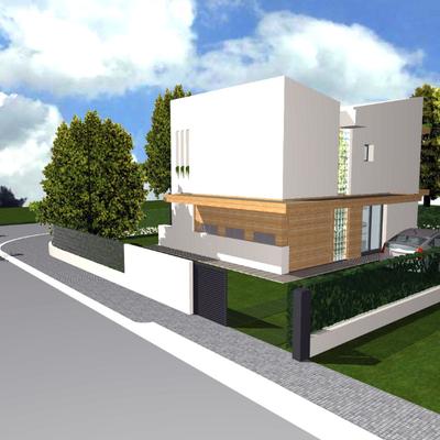 Progetto di casa unifamiliare compatta(140 mq. di SUL) a basso consumo energetico,ecocompatibile),tecnica costruttiva in pannelli di legno X-Lam