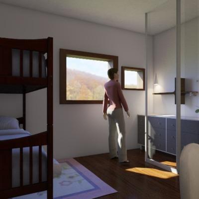 Progetto di interni camera per ragazze