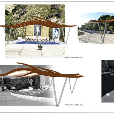 Progetto  copertura in legno lamellare incollato con travi curve