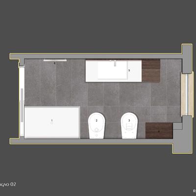 Progetto per la ristrutturazione di un bagno di 6mq