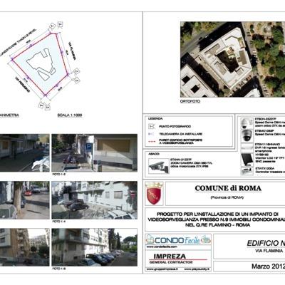 Progetto di Sicurezza Attiva attraverso l'Installazione di Impianti di Videosorveglianza su n.8 Immobili Condominiali nel Quartiere Flaminio-Roma Capitale (Italy)
