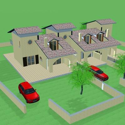 Progetto edificio residenziale trifamiliare