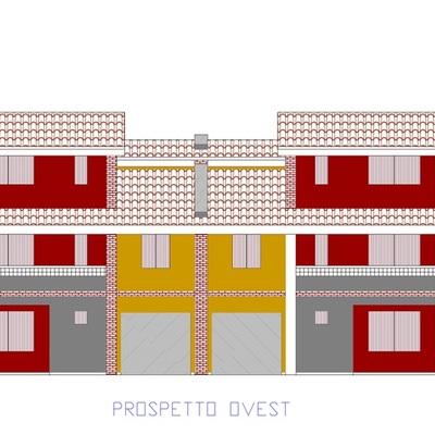 Progetto bifamiliare a schiera a Soragna (PR)