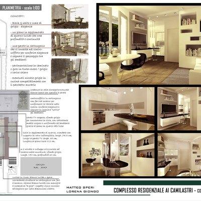 Progetto Ristrutturazione appartamento MINI BLACK & WHITE