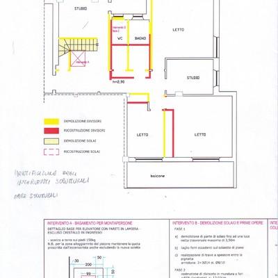 Progetto di ristrutturazione interna di abitazione su due livelli